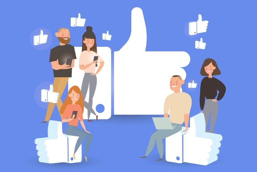 illustration réseaux sociaux fans facebook likes