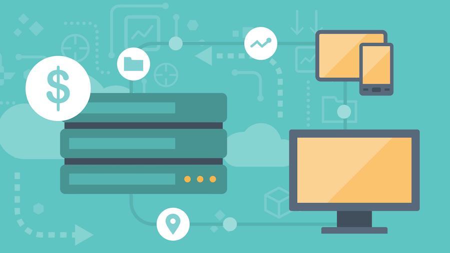 Cloud computing avec des appareils reliés à un serveur