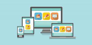 tablette, ordinateur et smartphone arborant le même contenu en responsive design
